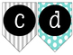 Lowercase Alphabet Banner {Turquoise, Black, & Grey}