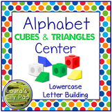 Lowercase Alphabet Building Cubes and Triangles