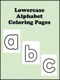 Lowercase Alphabet Coloring Pages