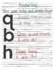 Lowercase Alphabet Directions: Multi-sensory