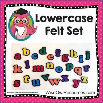 Lowercase Alphabet Felt Set for Felt or Flannel Board