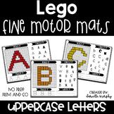 Uppercase Alphabet Fine Motor Mats Legos