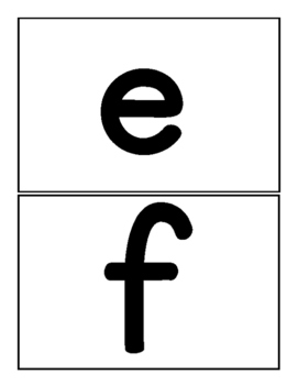 Lowercase Alphabet Flash Cards