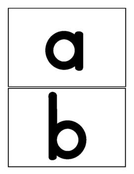 Lowercase Alphabet Flash Cards