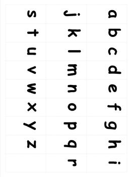 Lowercase Alphabet Flashcards