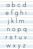 Lowercase Alphabet Handwriting Poster- Magnolia Style