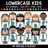 Lowercase Alphabet Kids Clipart