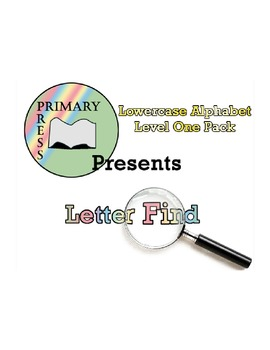 Lowercase Alphabet Letter Find: Level One Pack
