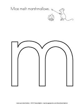 Lowercase Alphabet Letter Outlines / Play Dough Mats