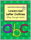 Lowercase Alphabet Letter Outlines / Play Dough Mats