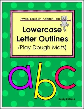 Lowercase Alphabet Letter Outlines