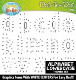 Lowercase Alphabet Letters Dot-To-Dot Clipart {Zip-A-Dee-Doo-Dah Designs}