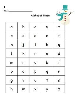 Lowercase Alphabet Maze