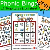 Lowercase Alphabet Phonic Bingo Set - 12 Cards & Call Shee