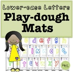 Lowercase Play Dough Mats.