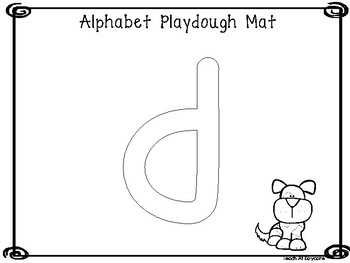 Lowercase Alphabet Playdough Mat Worksheets. Preschool-KDG Phonics and Literacy.