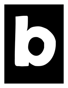Lowercase Alphabet Posters   Black, White, and Yellow
