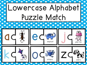 Lowercase Alphabet Puzzle Match