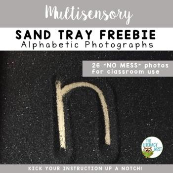 Lowercase Alphabet Sand Tray Photos FREEBIE