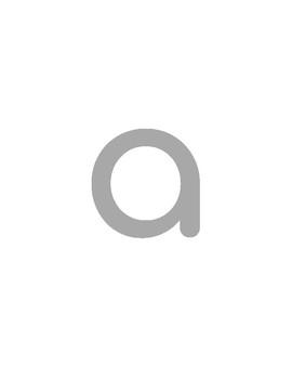 Lowercase Alphabet Tracing Printable