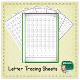 Lowercase Alphabet Tracing Workbook  ~* Start Points *~ Blank Edge for Binding