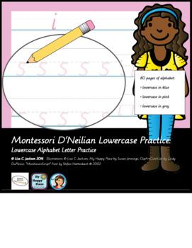 Alphabet Writing Practice Montessori / D'nealian Lowercase letters
