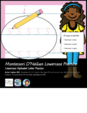 Montessori D'Neilian Lowercase Alphabet Practice Preschool Kindergarten Workbook