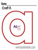 Lowercase Alphabet craft it activity