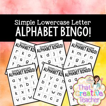 Lowercase BINGO! (Beginner and Advanced Version)