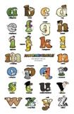 Lowercase Letter Wall Poster – Alphabetimals Alphabet Printables