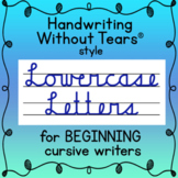 Lowercase CURSIVE handwriting practice Handwriting Without