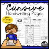 Lowercase Cursive Handwriting Practice Pages