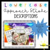 Lowercase Cursive Approach Stroke Descriptions-Orton Gillingham