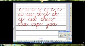 Lowercase Cursive Letters