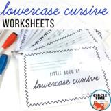 Lowercase Cursive Worksheets