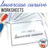 Lowercase Cursive Writing Practice Pages and Handwriting Booklet, Lower Case