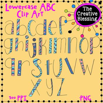 Lowercase Doodle Letters Clip Art