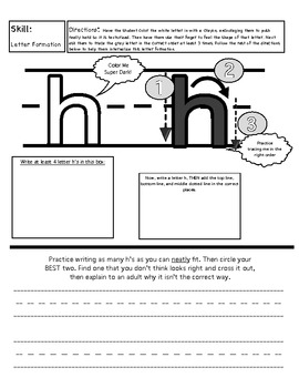 Lowercase Handwriting Book (great for volunteers, paraprofessionals, and TAs)
