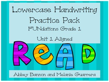 Lowercase Handwriting - Phonics Pack #1