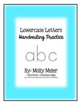 Lowercase Handwriting Practice