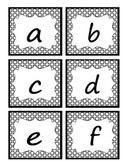 Lowercase Letter Alphabet Cards