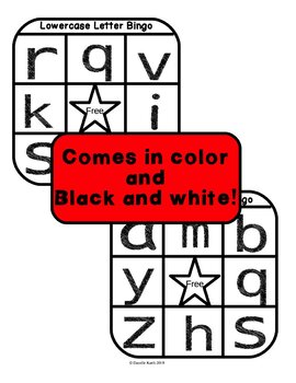 Lowercase Letter Bingo Set for Practicing Lowercase Letter Recognition!