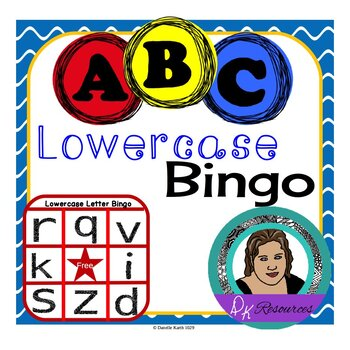 Lowercase Letter Bingo Set for Practicing Lowercase Letter