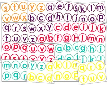 Lowercase Letter Cards for Activities and Centers