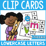 Lowercase Letter Clip Cards