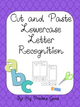 Lowercase Letter Cut and Paste