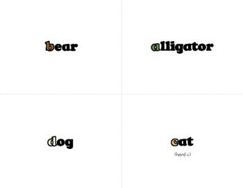 Lowercase Letter Flash Cards – Alphabetimals Alphabet Printables