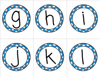Lowercase Letter Flashcards