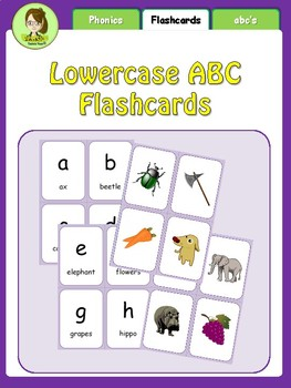 Lowercase a~z Flashcards - Print-n-Go!