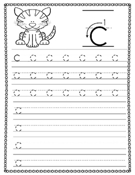 Lowercase Letter Handwriting Practice Pages